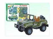 3D militaarauto pusle 48 osa