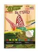 Gerardo's Toys 3D pusle Värviline liblikas