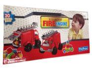 Tuletõrjeauto klotsidega