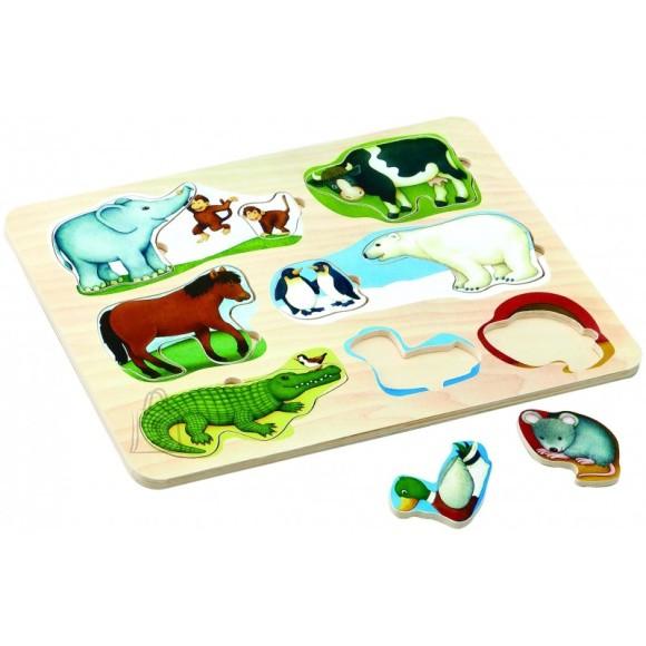 Gerardo's Toys puidust pusle loomadega 9 tk