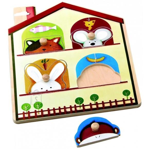 Gerardo's Toys nelja loomakesega pusle 4 tk