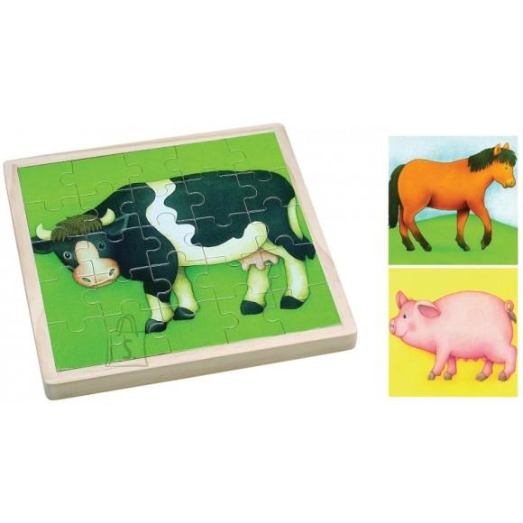 Gerardo's Toys taluloomadega puidust pusle