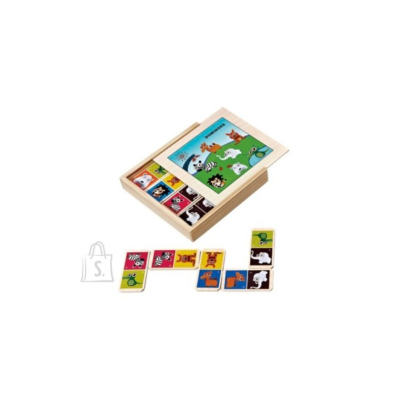 Gerardo's Toys puidust doomino loomadega 28 osa
