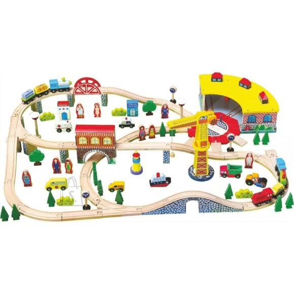 Gerardo's Toys puidust rongirada 100 osa