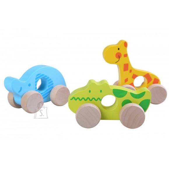 Gerardo's Toys puidust loomad ratastel