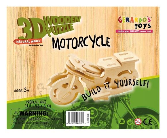Gerardo's Toys puidust 3D pusle Mootorratas 25tk
