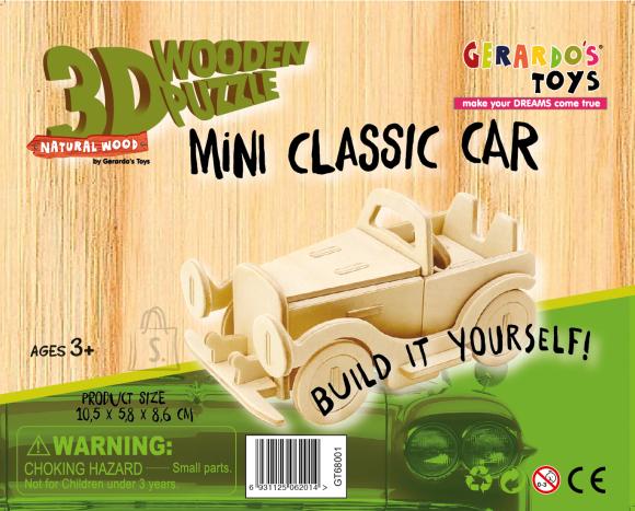 Gerardo's Toys 3D pusle Auto 25tk