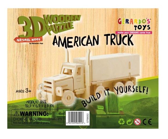 Gerardo's Toys 3D pusle Rekka 20tk