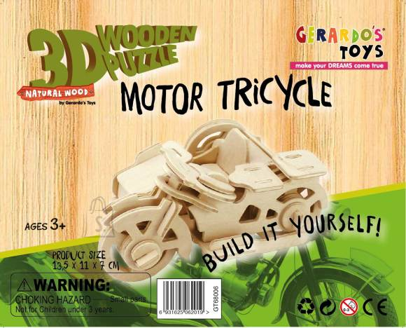 Gerardo's Toys 3D pusle Mootorratas 42tk