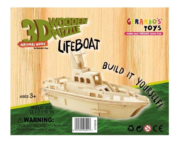 Gerardo's Toys puidust 3D pusle Jaht 34tk