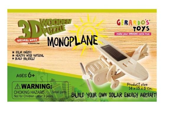 Gerardo's Toys 3D pusle Solar Lennuk 25tk