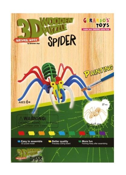 Gerardo's Toys 3D pusle Värviline ämblik