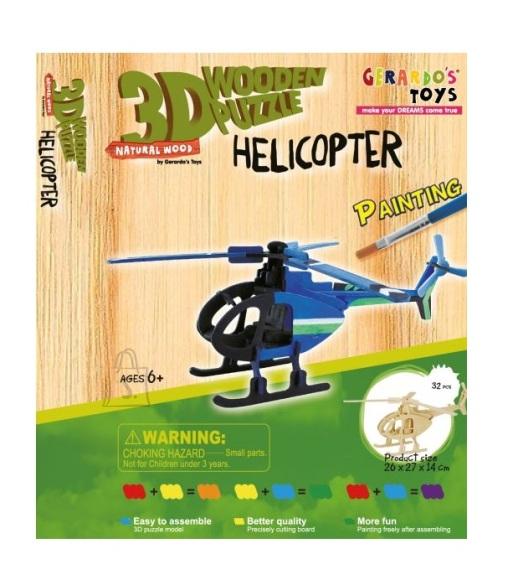 Gerardo's Toys 3D pusle Värviline helikopter