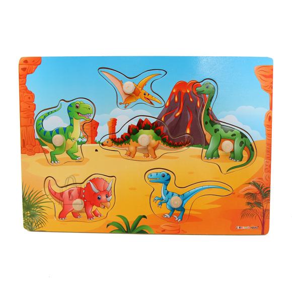 Gerardo's Toys Puidust pusle Dinosaurused