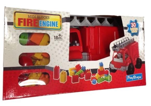 Playskape tuletõrjeauto klotsidega