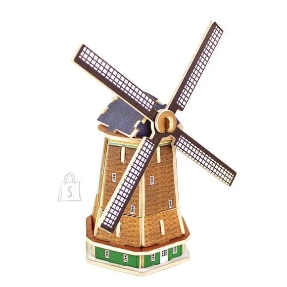 Gerardo's Toys puidust 3D pusle Hollandi tuuleveski 36tk