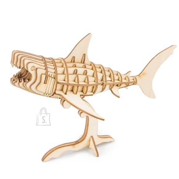 Gerardo's Toys puidust 3D pusle Hai 40tk