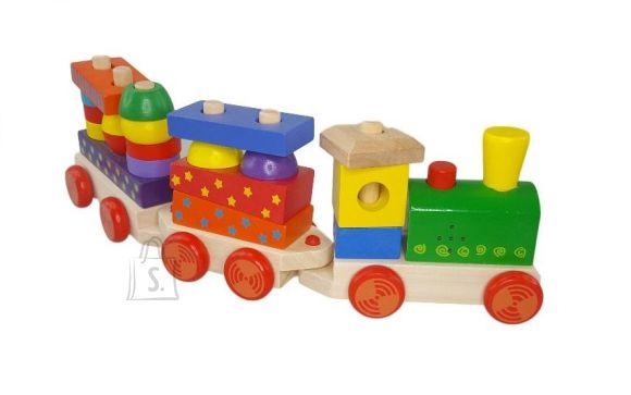 Gerardo's Toys Puidust klotsirong heliga