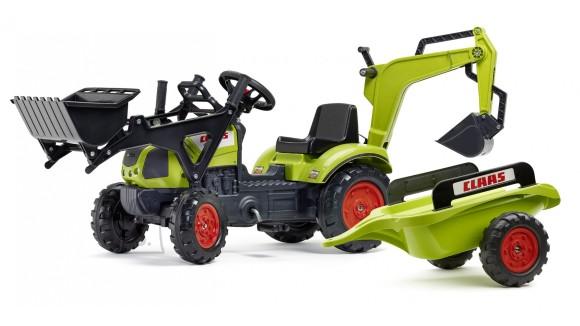 Falk Traktor Claas Arion + laadur ja käru