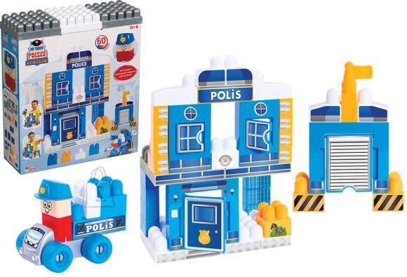 Playskape klotsikomplekt Politseijaoskond 60tk