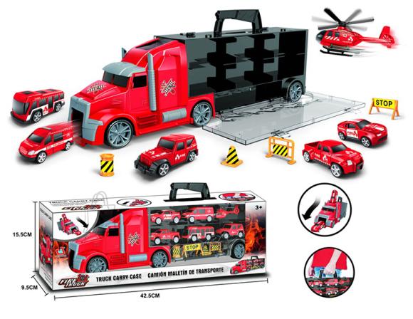Treiler RESCUE 6 masina ja liiklusmärkidega