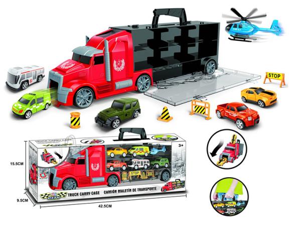 Treiler CITY 6 masina ja liiklusmärkidega