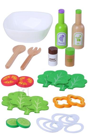 Gerardo's Toys Puidust Salatikomplekt 28osa