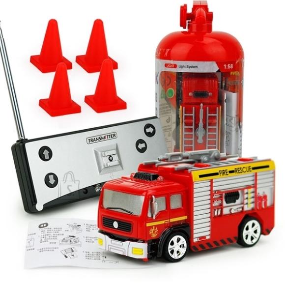 Puldiauto Mini Tuletõrjeauto 1:58