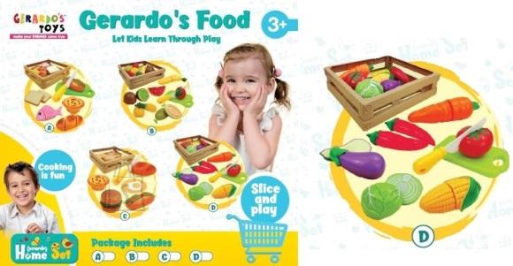 Gerardo's Toys Köögiviljade komplekt korvis