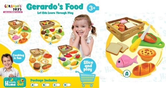 Gerardo's Toys Toiduainete komplekt 6tk korvis