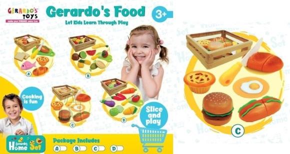 Gerardo's Toys Toiduainete komplekt 5tk korvis