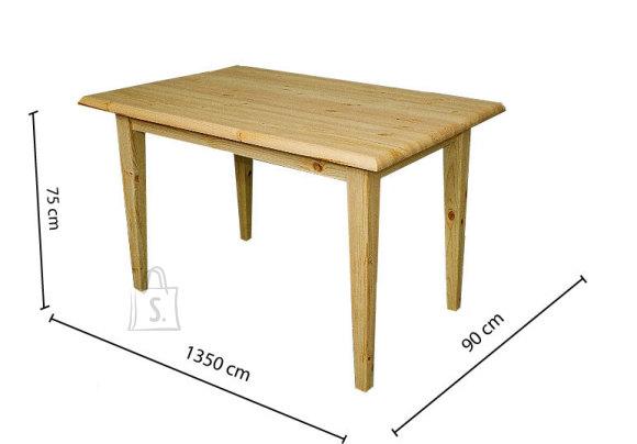Söögitoa laud koonusjalgadega 90x135
