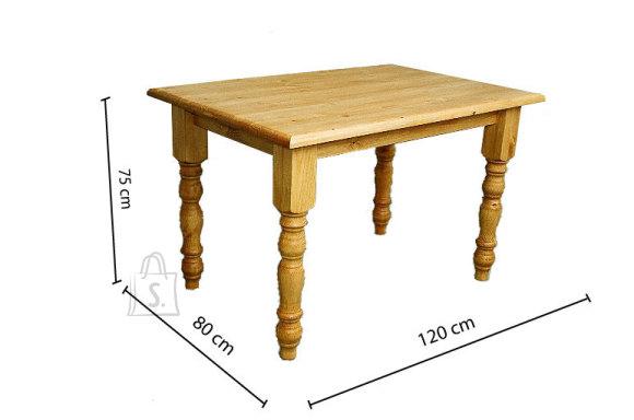 Söögitoa laud treitud jalgadega 80x120