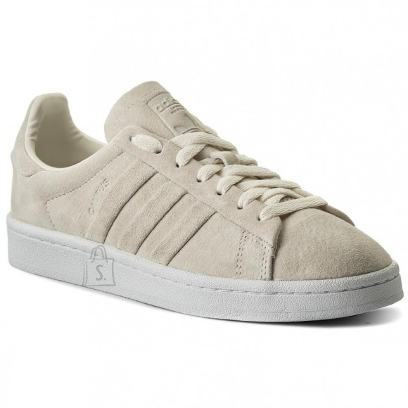 Adidas Originals Campus Stitch And Turn Trainers Beige/White