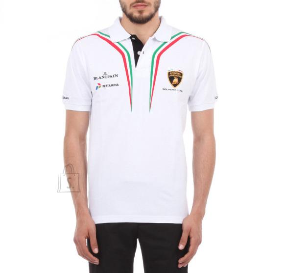 Lamborghini Men´s SS Polo White - Tricolore