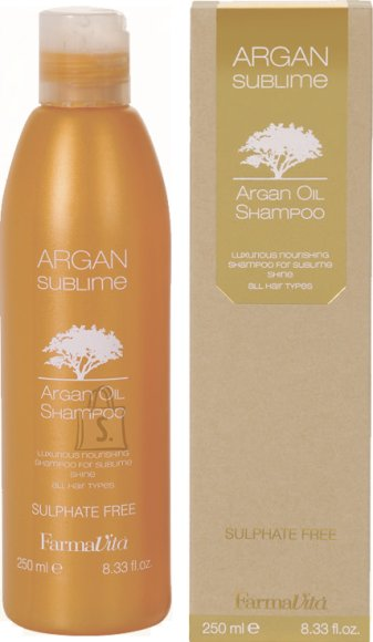 FarmaVita ARGAN SUBLIME Argan Oil juuksešampoon 250 ml