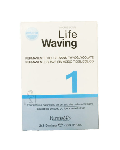 FarmaVita Professional Life Waving 1 - Juukse keemiline bio-püsilokivedelik (2x110 ml)
