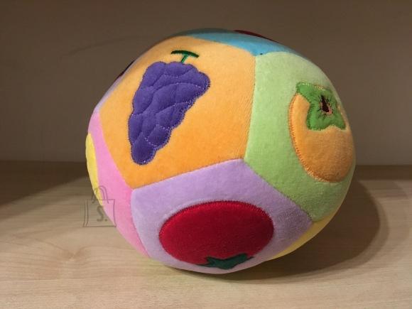 Arendav pehme pall. Õpetab lastele värvi ja puuvilju. Sobib väikelastele.