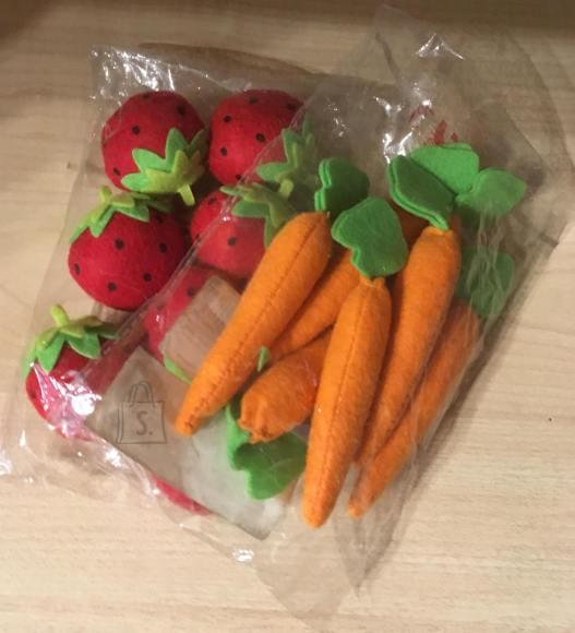 """Porgand ja maasikas. Sobivad lastele, kui nad mängivad """"Pood"""" mängu."""