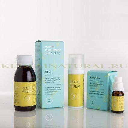 Herbs of Kedem Probleemse naha jaoks toodete kompleks(sobib ka teismelistele)