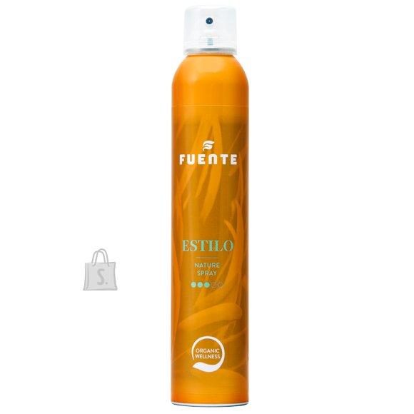 """Fuente FUENTE """"ESTILO"""". Juukselakk, mis sirgendab juukseid naturaalselt, need jäävad pehmemateks, kuid hoiavad vormi 300ml"""