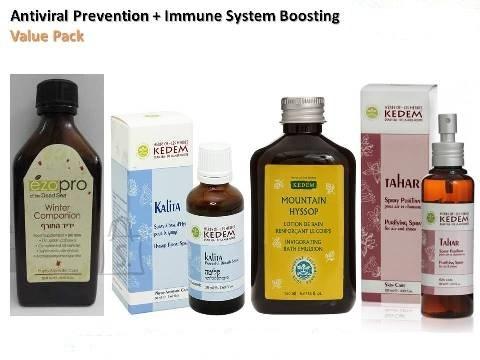 Herbs of Kedem Viirusevastane ennetav + Immuunsüsteemi tugevdav komplekt - kauakestvaks kasutamiseks