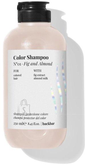 FarmaVita BACK.BAR Color Shampoo No.1 - śampoon värvitud juustele viigimari + mandel 250ml