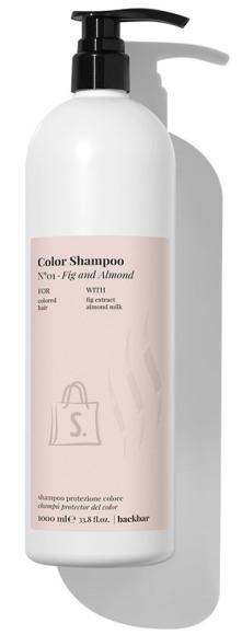FarmaVita BACK.BAR Color Shampoo No.1 - śampoon värvitud juustele viigimari + mandel 1000ml