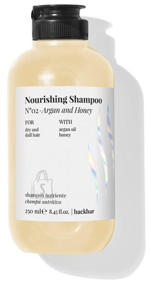 FarmaVita BACK.BAR Nourishing Shampoo No.2 - toitev śampoon kuivadele juustele argaania + mesi 250ml