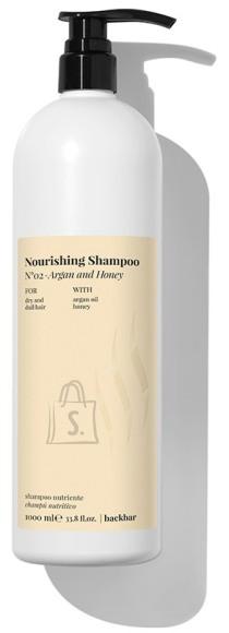 FarmaVita BACK.BAR Nourishing Shampoo No.2 - toitev śampoon kuivadele juustele argaania + mesi 1000ml