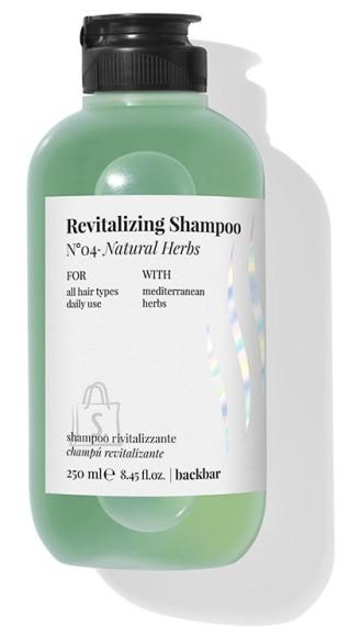 FarmaVita BACK.BAR Revitalizing Shampoo No.4 - elustav śampoon igapäevaseks kasutamiseks looduslike ürtidega 250ml