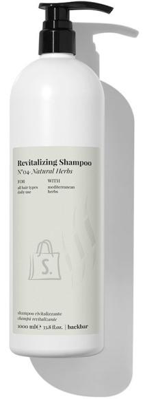 FarmaVita BACK.BAR Revitalizing Shampoo No.4 - elustav śampoon igapäevaseks kasutamiseks looduslike ürtidega 1000ml