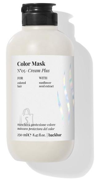 FarmaVita BACK.BAR Cream Plus Color Mask No.5 - Värvikaitse mask värvitud juustele päevalilleseemne ekstraktiga 250ml