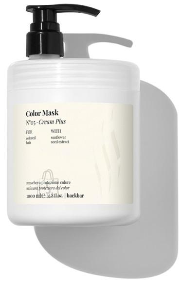 FarmaVita BACK.BAR Cream Plus Color Mask No.5 - Värvikaitse mask värvitud juustele päevalilleseemne ekstraktiga 1000ml